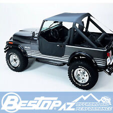 Bestop Traditional Bikini 76-91 Jeep CJ7 CJ8 Wrangler YJ Charcoal 52508-09