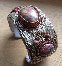 Swarovski Armband Armreif Perlen Perle Handarbeit Halbedelstein Unikat
