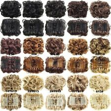 Wavy Curly Combs Clip In Hair Bun Chignon Piece Up-do Cover Hair Extension WE9