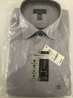 ALFANI Men's Grey Collard Shirt With Stretch Size Large 16/16.5in Collar