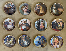 New ListingNorman Rockwell's Rediscovered Women Decorative Plates Complete Set of 12 w/ Coa
