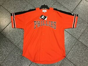 XL NWT Deadstock Vintage MLB Philadelphia Phillies Orange Jersey Starter 90's