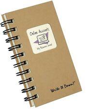 Internet Website Username Password Pocket Book Email Address Journal Organizer