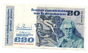 Ireland, Central Bank of Ireland, 20 Punt, 24 January 1991, William Butler Yeats