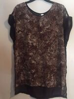 NWT H&M Summer Collection Chiffon Animal Print Beach Sheer Dress Sz: US 8