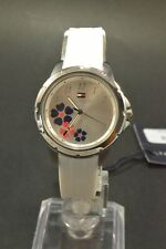 Tommy Hilfiger 1781803 Communion Silver Dial White Silicone Strap Ladies Watch