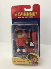 Alvin and the Chipmunks Rockin' Alvin Action Figure w/ Stand & Guitar NIB