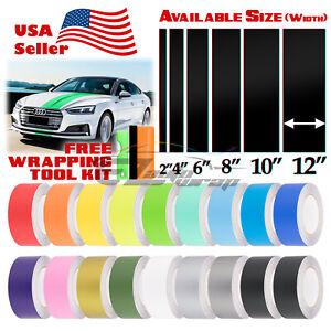 Matte Color Racing Stripes Vinyl Wrap Decals For Audi A5 Stripe 25FT / 50FT Long