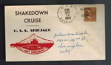 1938 USA NAVY USS SUBMARINE Skipjack Shakedown Cruise Cover to Los Angeles