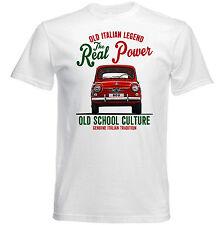Vintage Italiano coche Fiat 800-Nuevo Algodón Camiseta