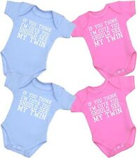 BABYPREM Baby Clothes Twins Bodysuits Vests Funny One-Pieces Shower Gifts