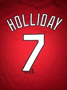 Majestic T Shirt St Louis Cardinals Matt Holliday Youth XL Shirzee Red