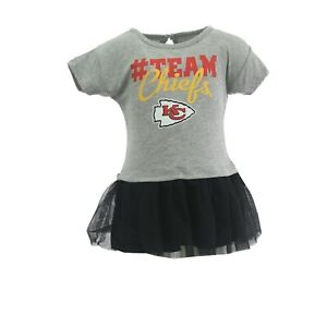 Kansas City Chiefs Official NFL Apparel Baby Infant Girls Size Dress New Tags
