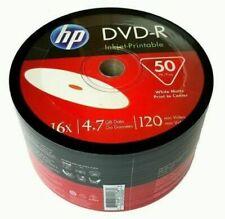 HP 16x DVD-R 4.7GB White Inkjet Printable Media Blank Disk - 50 Piece