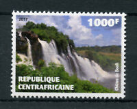 Central African Republic 2017 MNH Boali Waterfalls Falls 1v Set Nature Stamps