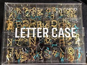Letter Board Letters Case by Letters by And Black Gold Gray & Teal Letters