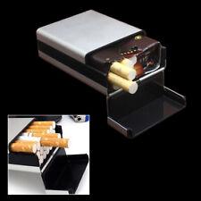 Portable Aluminum Alloy Cigarette Tobacco Case Pocket Box Holder Plastic Cover