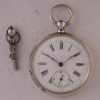 Vintage Lovely Silver Case 140-Years-Old Swiss Pocket Watch A+ Fully Serviced