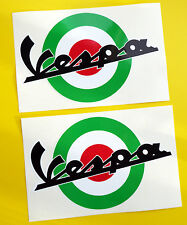VESPA SCOOTER MoD Target style ITALIAN FLAG ROUNDEL stickers decal 200mm wide