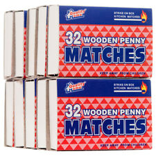 10 BOXES WOODEN RED PENNY MATCHES 32 Each