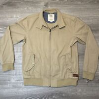 VANS California Beige Denim Full Zip Jacket Adult Size M