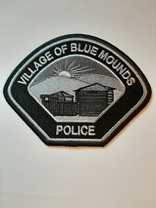 Blue Mounds Wisconsin Police Sheriff Patch Old Grey Subdued