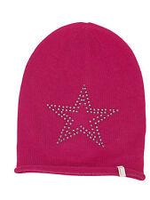 (p36) finemente lavorato a maglia Berretto Freaky testa Beanie Inverno Cappello con Big Star GUARNIZIONE CON STRASS