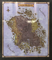 Vvardenfell Morrowind Map Elder Scrolls ESO POSTER Never Used - Folded Condition