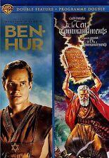NEW 4DVD SET - Remastered - BEN HUR + THE TEN COMMANDMENTS - CHARLTON HESTON -