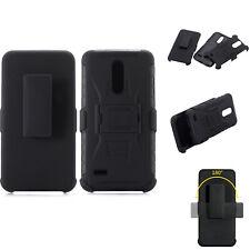 For LG K11+ K11 Plus / K11 Alpha Prime, Belt Clip Case +Tempered Glass Protector