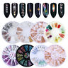 3D Nail Art Decoration Glitter Rhinestones Mixed Size Nail Accessories in Wheel