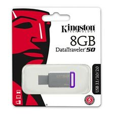 50PZ PEN 8GB USB KINGSTON DATATRAVELER DT50/8 FLASH PENDRIVE CHIAVETTA USB3.1