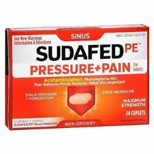 Sudafed Pressure and Pain Maximum Strength for Adults Caplets - 24 Ea, Pack...