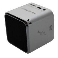 Technaxx Mini Musicman Soundstation MP3-Player Lautsprecher MicroSD-Slot silber