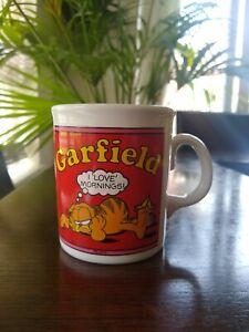 Vintage Garfield Mug I Love Mornings! Jim Davies Made in England