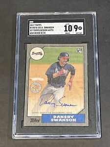 2017 Topps '87 Topps Ash Auto /10 Dansby Swanson BGS 9.5/10 POP 1 Rookie !