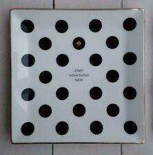 "Kate Spade New York + LENOX Start Something New Black Polka Dot Plate Tray 6"""