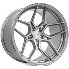"4ea 19x8.5/19x11"" Staggered Rohana Wheels RFX11 Brushed Titanium Rims (S7)"