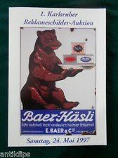 EMAIL panneaux vente aux enchères catalogue 1. Karlsruhe publicité vente aux enchères 15.11.1997