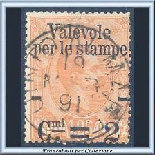 1890 Italia Regno Valevole stampe 2 cent. su L. 1,25 arancio n. 54 Usato