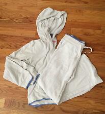 Girls RALPH LAUREN Classic XL Jacket / M Pants 2 piece White Hooded SweatSuit
