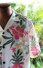 NEW Men's Size L White Hawaiian Friday Aloha Shirt ~ Luau Cruise Beach Wedding