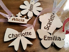 10x wooden personalised gift tags magnets key rings wedding favours butterfly