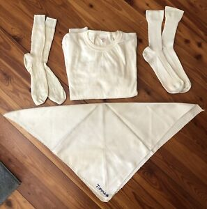 Vtg Nomex Racing Underwear T-shirt Socks Scarf Fireproof Sotto Tuta Under Suit