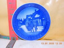 Royal Copenhagen Christmas Plate - 1980 Bringing Home The Christmas Tree