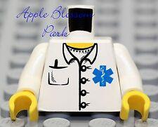 NEW Lego Minifig MEDIC TORSO Male/Female EMT Doctor Nurse White Pocket Lab Coat