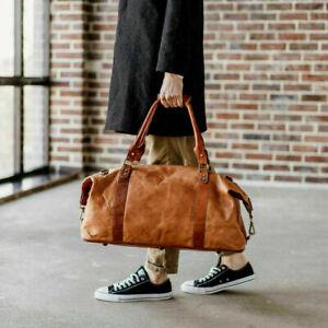 """Groß Echt Herren Hand-Craffted 24 """" Reisetasche Vintage Leder Seesack Weekend"""