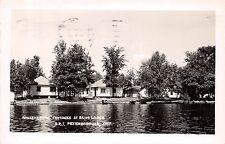 Canada Postcard Real Photo RPPC Ontario 1954 PETERBOROUGH Elim Lodge Cottages 25