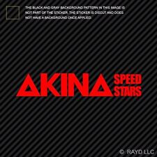 Akina Speed Stars Sticker Die Cut Decal