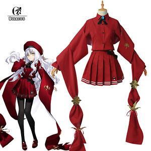 FATE FGO Caren Hortensia Cosplay Costume Red Skirt Women Girl Dress Uniform Suit